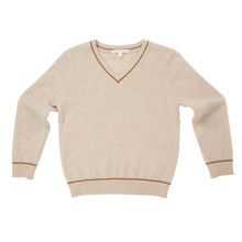 Cashmere V-Neck Sweater - Oatmeal