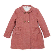 Herringbone Coat - Carmine Pink