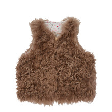 Chocolate Shearling Gillet