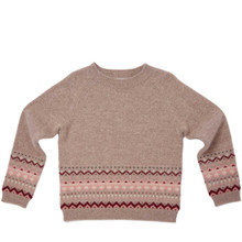 Fair Isle Cashmere Sweater - Chocolate