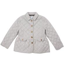 Waterproof Quilted Jacket - Pale Grey