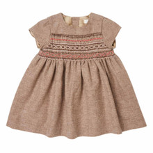 Mini Hand Smocked Wool-Cashmere Dress - Chocolate
