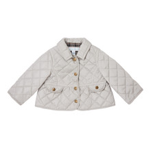 Mini Waterproof Quilted Jacket - Pale Grey