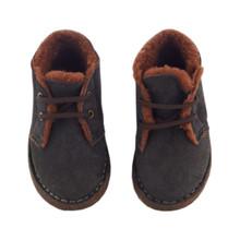Baby 1st Boot - Grey/Chocolate