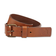 LEATHER BUCKLE BELT - TAN