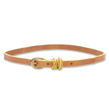 WRAP TRIM BELT - TAN/YELLOW