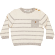Ancil - Stripe Sweater - Off White/Grey