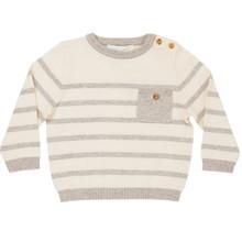 Ancil - Stripe Sweater - Off White/Grey