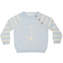 Aubin - Anchor Sweater - Blue/Off white
