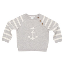 Aubin - Anchor Sweater - Grey/Off White