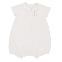 Albert - Linen Bubble Romper - White