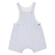 Aron -  Seersucker Romper - Blue/White