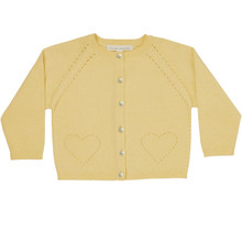 Alexa - Pointelle Cardigan - Elderflower Yellow