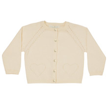 Alexa - Pointelle Cardigan - Off White