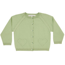 Alexa - Pointelle Cardigan - Willow Green