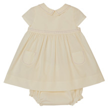Amy - Poplin Dress with Bloomer - Marshmallow
