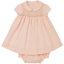 Agathe -  Smocked Dress with Bloomer - Pink