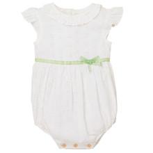Abella - Broderie Baby Romper - White