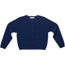 Amity - Cashmere Pointelle Cardigan - Navy