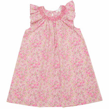 Andree - Liberty Print Smock Collar Dress  - Pink Liberty