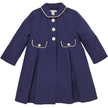 Audra - Girl Piped Coat - Navy
