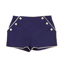 Ambroise - Girl Piped Short - Navy