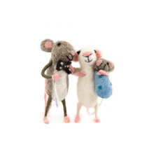 Mice Couple Carrying Baby Boy