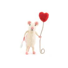 Happy Heart Balloon Mouse