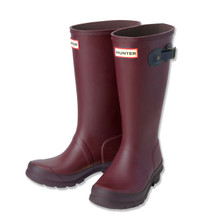 HUNTER WELLINGTON BOOTS - BURGUNDY