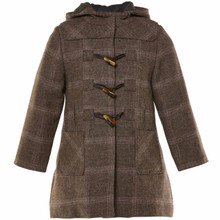 BEATRIX - WOOL DUFFLE COAT - CHOCOLATE