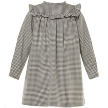 BELINA - CHECK DRESS - GREY