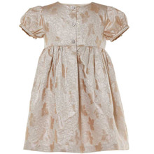 BERTINA - LEAF JACQUARD DRESS - ROSE GOLD