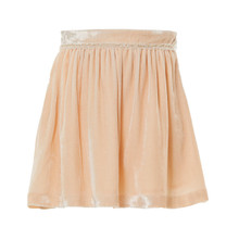 BRIDGETTE - VELVET SKIRT - PALE PINK
