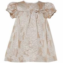 BEE - LEAF JACQUARD DRESS - ROSE GOLD