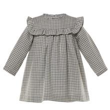 BIANCA - CHECK DRESS - GREY