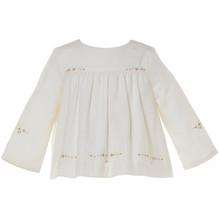 BRIENNA - EMBROIDERED TOP - WINTER WHITE