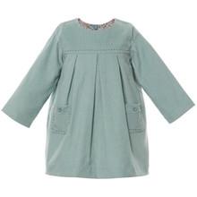 BRONTE - PINWALE CORD DRESS - TEAL