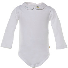 BYRD - PETER PAN COLLAR ONESIE WITH HOME SWEET HOME EMBROIDERY