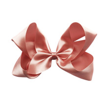 Large Hair Bow - DUSTY PINK