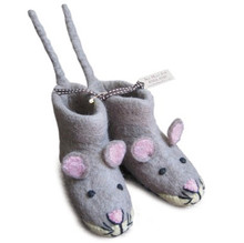 Slippers Mae Mouse - TAUPE