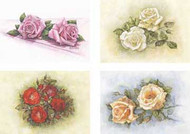 Sheet of 4 Roses