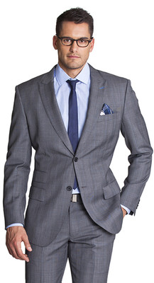THE GREY WITH BLUE CHECK BLAZER