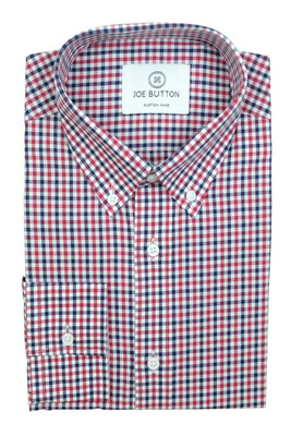 Brooklyn Red and Navy Small Gingham
