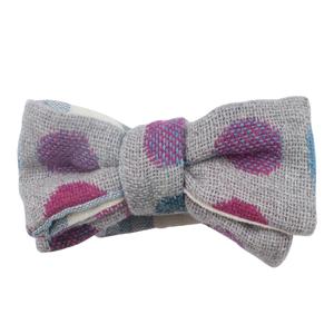 Grey Multi Dot Bow tie (PRE-TIED)