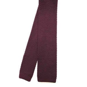 Maroon Square End Knitted Tie