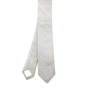 The Light Grey Linen Tie