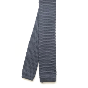 Grey Knitted Square End Tie