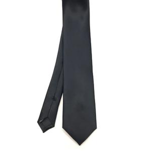 Skinny Black Satin Tie