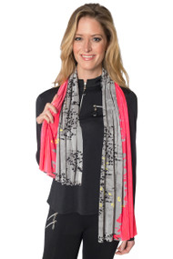 Lynx Print Crunched in Diva - Scarf