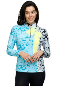 81141-brush stroke print sun shirt-343